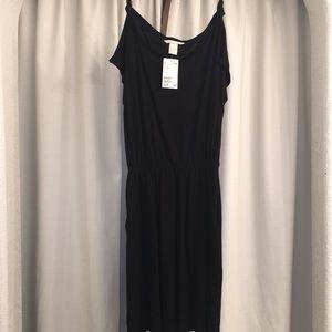 Brand New Size XS H&M Black Midi Dress